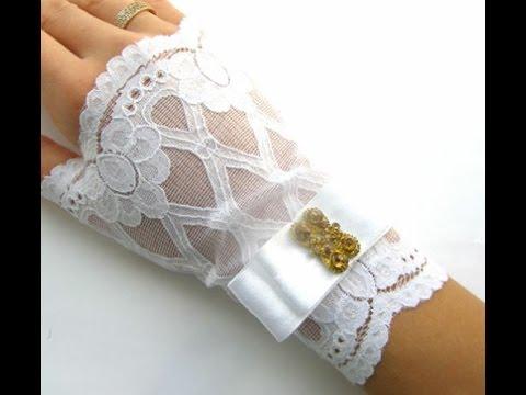 Кружевные перчатки своими руками и