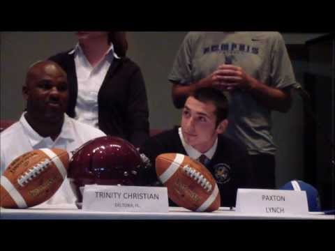 Trinity Christian Academy Football College Signing Day 2012