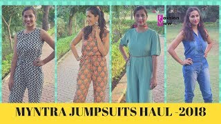 MYNTRA JUMPSUITS HAUL 2018 || LATEST JUMSUITS HAUL || FASHIONVIEWCHETNA
