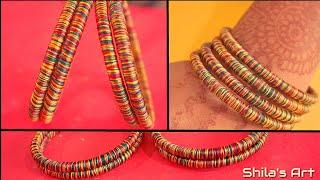 Beautiful Multicolour Silk Thread Bangles | Home made Bangles