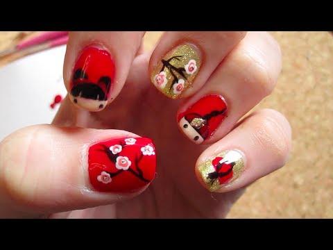 Chinese New Year Nail Tutorial - YouTube