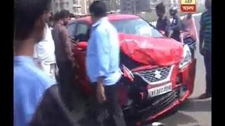 Accident at Ajaynagar, 1 injured