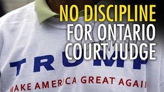 download lagu Ontario Judge Won't Be Disciplined For Wearing Maga Shirt gratis
