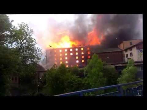 Wielki Pożar Młyna Starogard Gdański 26.05.2013 - Całe Zdarzenie