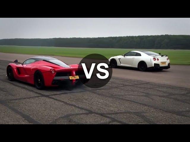 Ferrari LaFerrari Vs Nissan GTR Drag Race - DRAGINFO