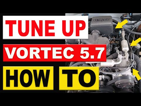 How To Replace Spark Plugs. Wires. Cap and Rotor 1996-1998 Chevy GMC Truck 5.7 Vortec Tune Up