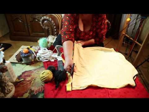 Как нарезать полоски для коврика из футболки