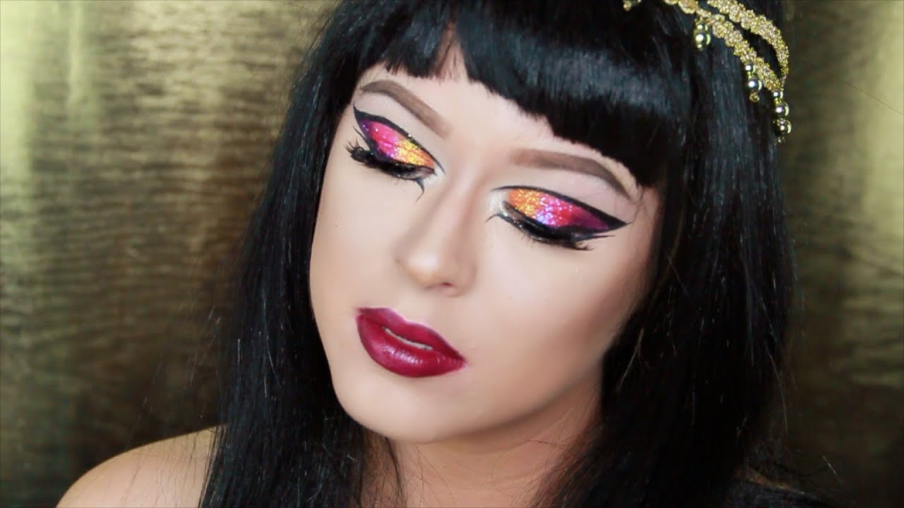 Halloween Tutorial :Katy Perry Dark Horse Makeup - YouTube