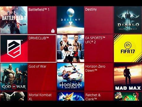 Моя коллекция игр для PS4