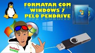 Como baixar e formatar o PC com Windows 7 todas as versões 32 e 64 bits via pendrive. MANEIRA SEGURA