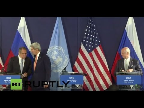 LIVE: ISSG meeting in Vienna: Press conference by Lavrov, Kerry and De Mistura