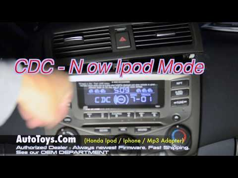 Honda Accord IPOD iSIMPLE PXAMG ISHD571 Iphone Mp3 Installation w/ CD Emulation by Autotoys.Com