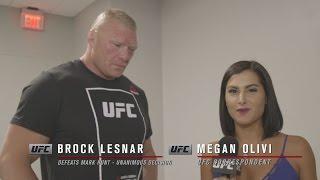 UFC 200: Brock Lesnar Backstage Interview