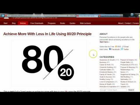 Achieve More With Less in Life Using 80/20 | PersonalExcellence.co