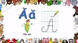 Bé học chữ | Em tập viết bảng chữ cái tiếng việt lớp 1 | Viết chữ đẹp | Dạy bé thông minh