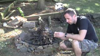 Ferrocerium Rod Technique and Upside Down Fire for Wilderness Survival