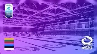 Lithuania v Estonia BDivision women Le Gruyre AOP European Curling Championships 2018