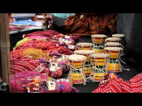 Rajasthani Handicrafts & puppets at International Kite Festival