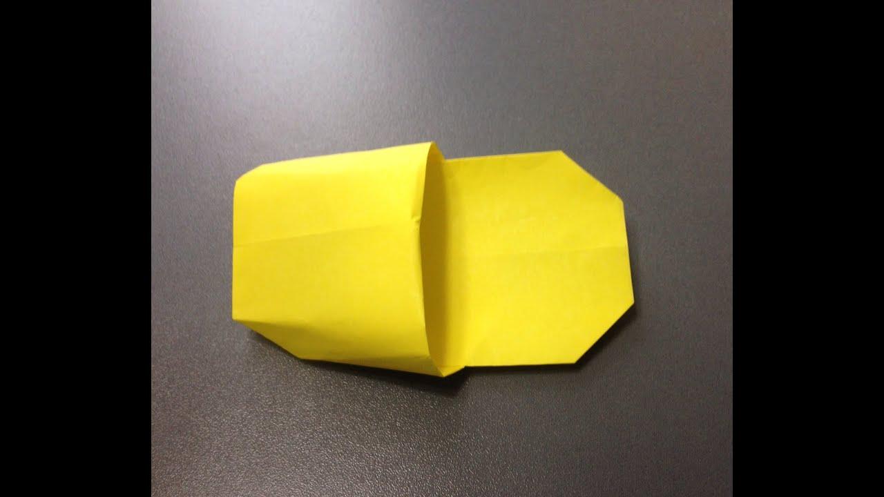 折り紙 スリッパ 折り方 作り方 ... : 折り紙 入れ物の作り方 : 折り紙