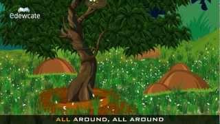 Edewcate english rhymes - The green grass grows all around nursery rhyme