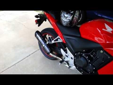 2013 Honda CBR500R Exhaust - Two Bros Black Series Carbon Slip-on