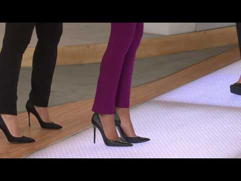 Susan Graver Stretch Cotton Petite Full Length Leggings with Pat James-Dementri