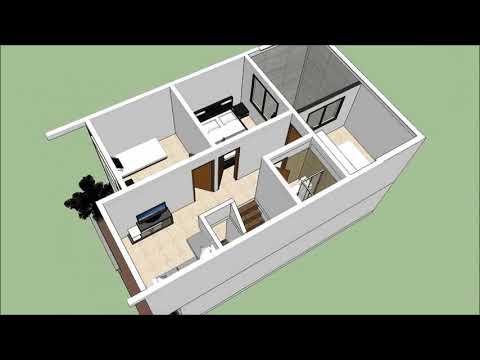 Planos Gratis Casa moderna 2 pisos  6.00 m x 9.00 m parte 1