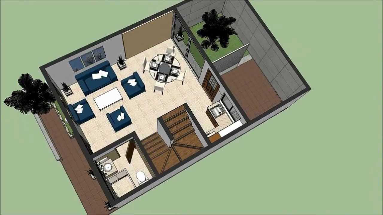 Planos gratis casa moderna 2 pisos m x m parte 1 for Planos para construir una casa de un piso