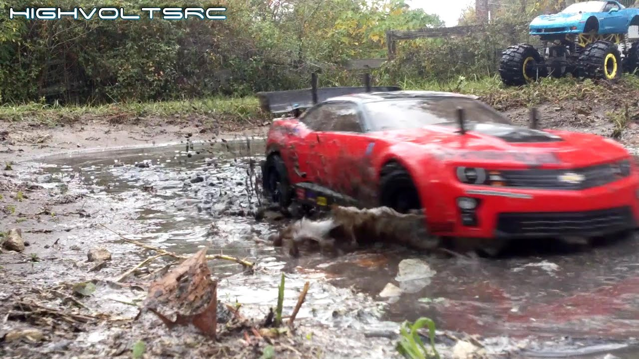High Volts Rc Tamiya Tt 01 Camaro Zl1 Rally Car Mudding
