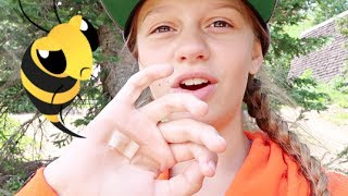 STUNG BY A BEE!! 🐝 | SCREAMING OUCH!! 😭
