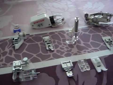 les diff rents pieds de biche d 39 une machine coudre youtube. Black Bedroom Furniture Sets. Home Design Ideas