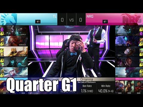 Team Liquid vs NRG eSports | Game 1 Quarter Finals S6 NA LCS Spring 2016 Playoffs | TL vs NRG G1