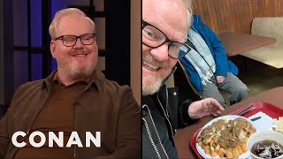 "Jim Gaffigan Tried Rochester's Infamous ""Garbage Plate"" - CONAN on TBS"