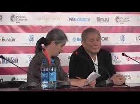 Прессконференция с Такеси Китано