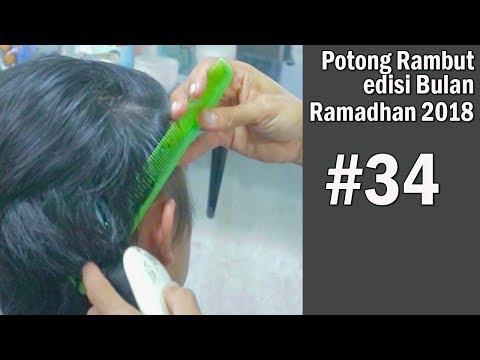 Potong RAMBUT MANDARIN Lebaran 2018 ( step by step )