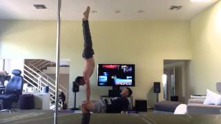 AcroYoga with Tari Mannello & Shawn: Handstand on Table, press to Titibasana