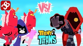 Teeny Titans Raven Family vs Hooded Hood - iOS/Android - Gameplay Video