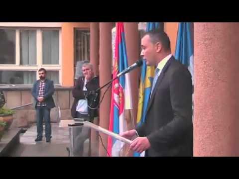 26. 06. 2015. Govor Predsednika opstine Dejana Cokica ispred opstine Mladenovac
