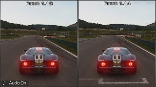 Gran Turismo Sport - Patch 1.13 vs 1.14 - Ford GT Sound Comparison