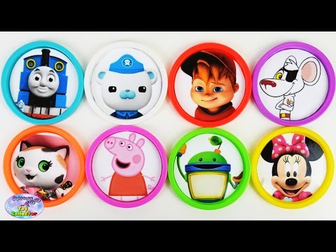 Learn Colors Umizoomi Danger Mouse Peppa Pig Alvin Octonauts MLP Surprise Egg and Toy Collector SETC