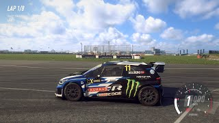DiRT Rally 2.0 - 2018 Volkswagen Polo R Supercar - Car Show Speed Jump Crash Test . 1440p 60fps.