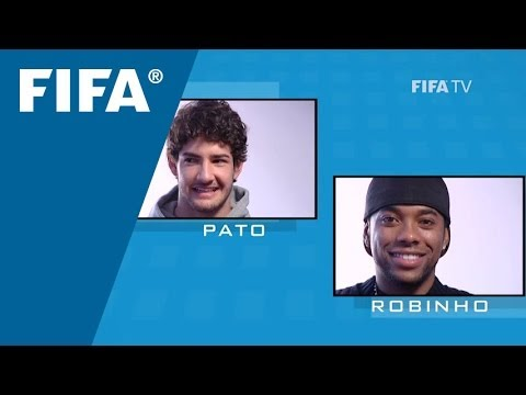 Pato asks Robinho a question