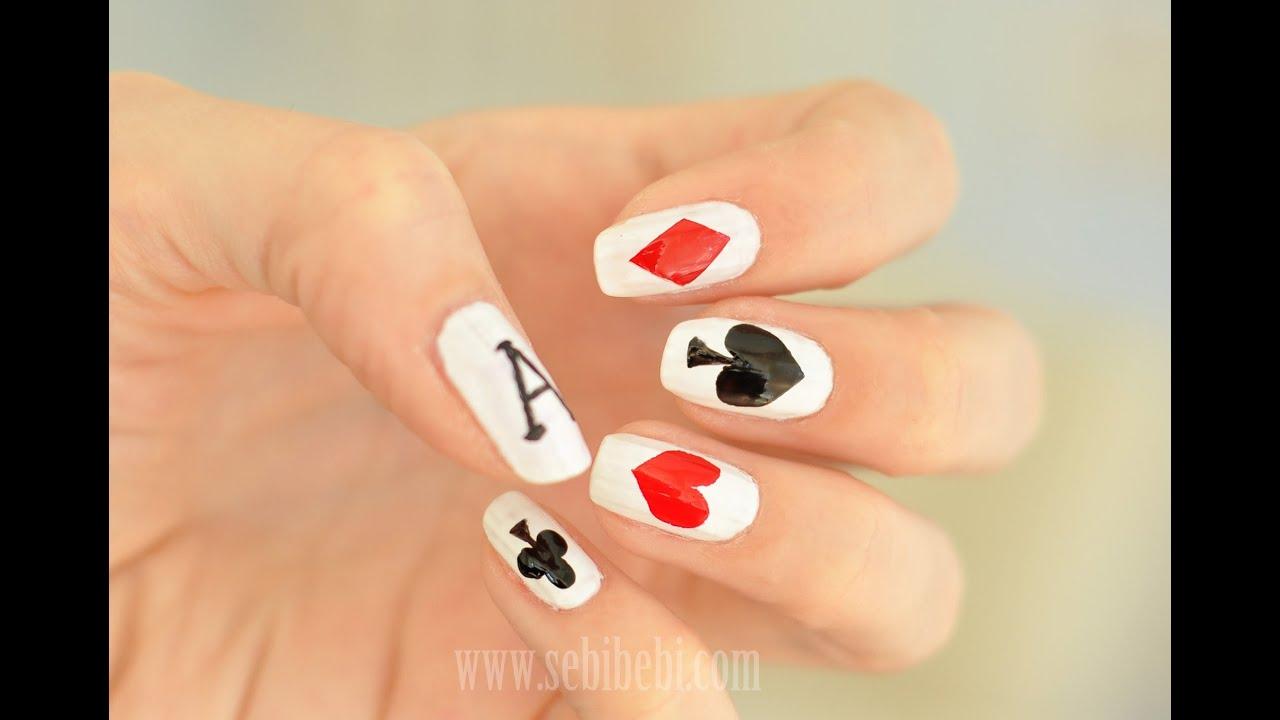 Дизайн ногтей карты фото