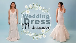 DIY Wedding Dress Makeover | Thrifted Transformations