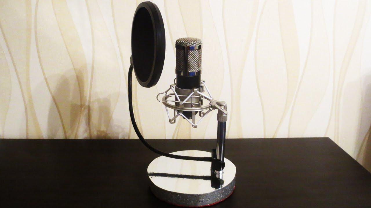 Как сделать стойку для микрофонов