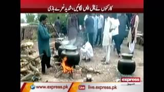 عمران خان کا کارکنوں کے ساتھ ناشتہ اور ساتھ ہی ڈٹے رہنے کی ہدایت۔۔۔