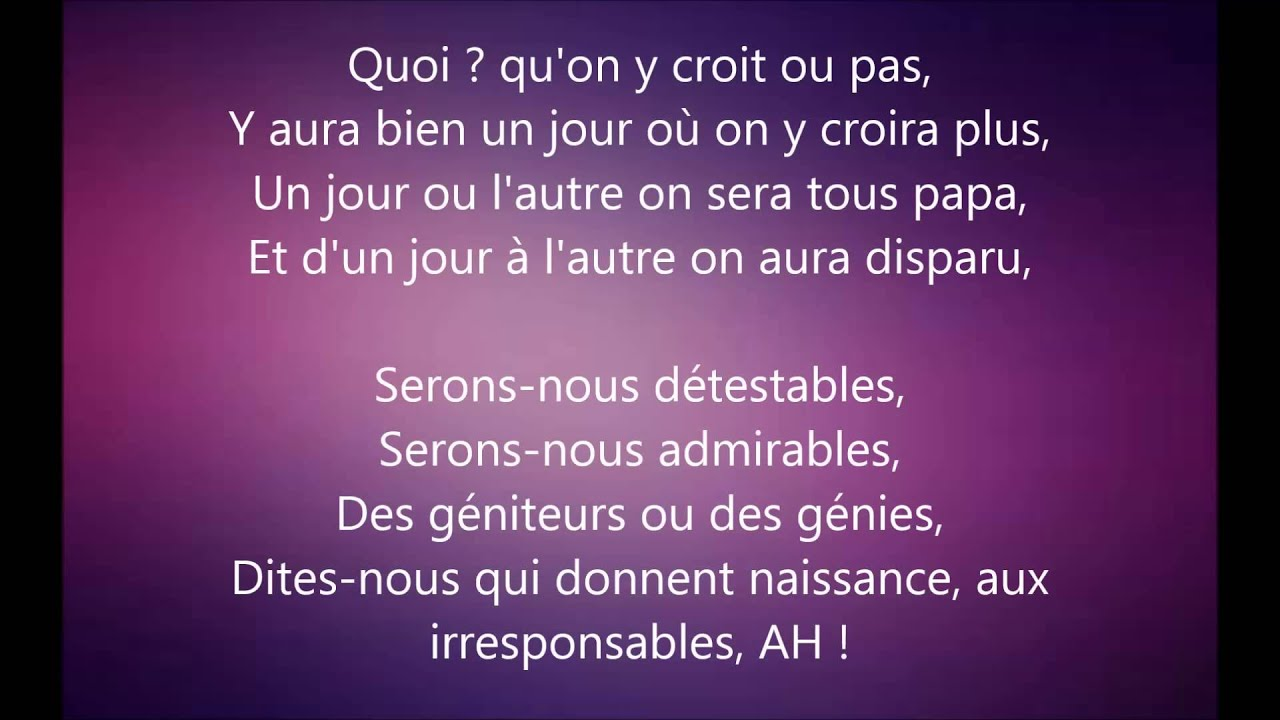 Stromae Papaoutai Paroles Youtube