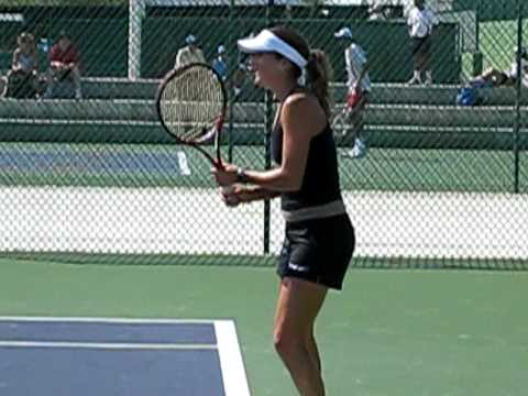 Shahar Peer practicing at Indian Wells Video