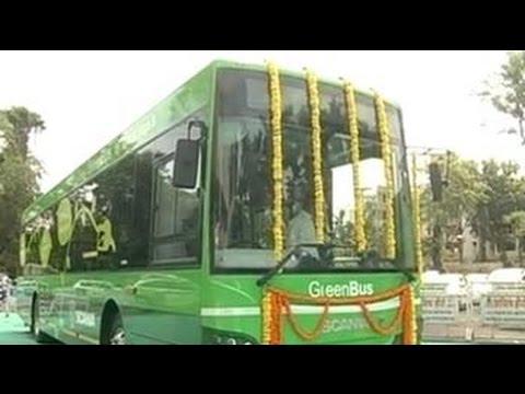 Transport Minister Nitin Gadkari launches ethanol run buses in Nagpur