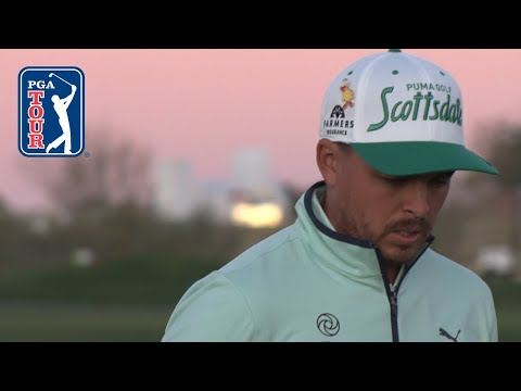 Rickie Fowler's range session at Waste Management Phoenix Open 2020